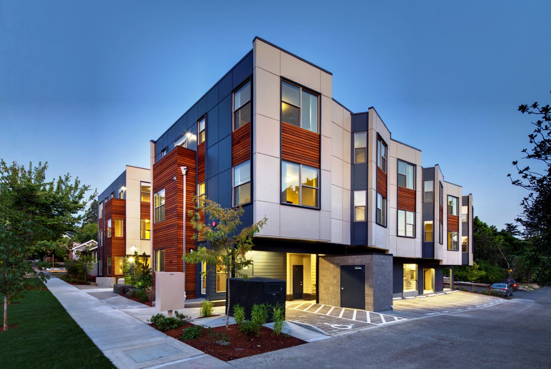 Affordable Housing Designs With Retail On The Bottom Floor