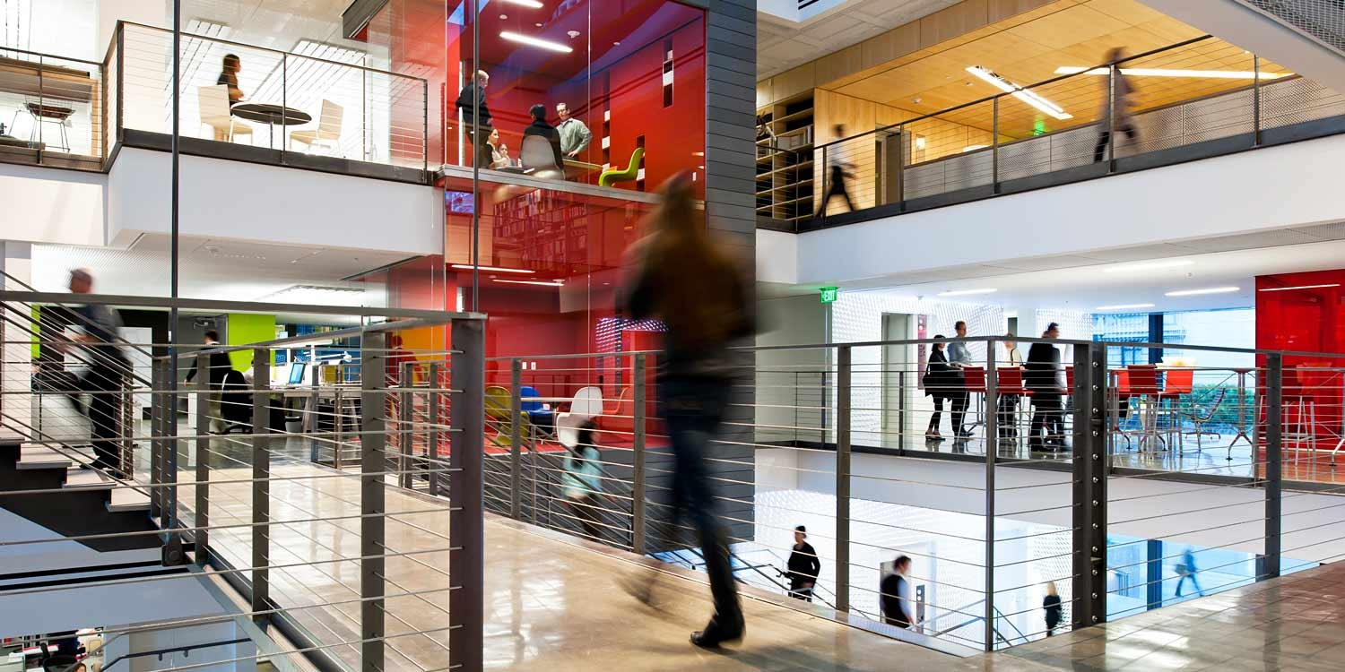 Gensler study better designed workspaces produce more for Innovation firm los angeles